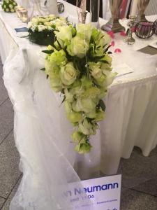 Ein Hochzeitsstrauß auf der Hochzeitsmesse 2015 in der Stadthalle Hagen Überblick